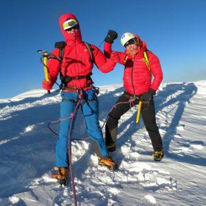 La felicità sulla vetta del Monte Bianco