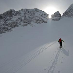Traccia di salita in scialpinismo