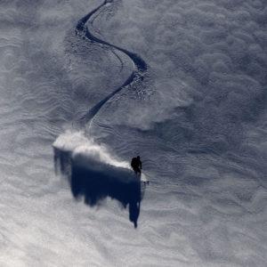 La firma nella neve fresca
