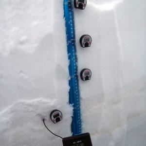 Rilevazione della temperatura del manto nevoso durante il corso di neve e valanghe
