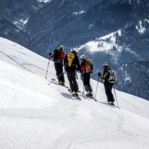 Gruppo di scialpinisti