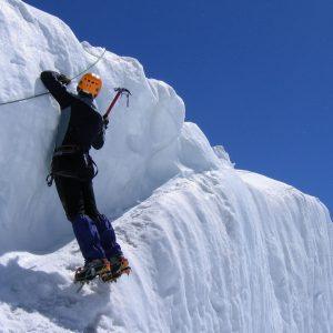 Traverso durante il corso di Alta Montagna