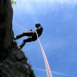 Discesa in corda doppia da Bella Venessia al Passo di Monte Croce Carnico
