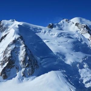 Mont Blanc du Tacul, Mont Maudit, Monte Bianco visti dall'Aiguille du Midi