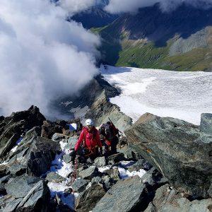 Lungo la Studlgrat, la cresta sud che raggiunge direttamente la cima del Grossglockner