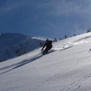Sciata in polvere nei Monti Tatra