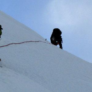 Salendo verso il Nevado Yanapaccha