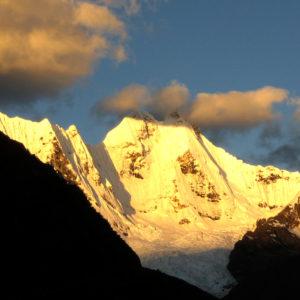 Trekking del Huayhuash, vista dal campo della Jahuacocha