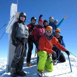 Scialpinismo, in vetta al Piz Buin in Silvretta