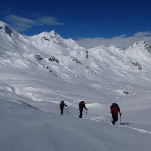 Scialpinismo, seguendo la traccia
