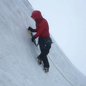 Cramponage durante il corso di Alta Montagna