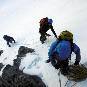 Durante il corso di Alta Montagna al Polluce sul Monte Rosa