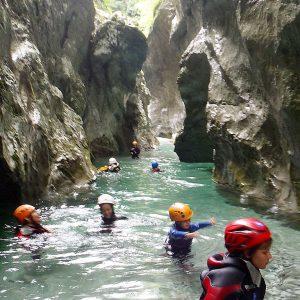 Canyoning nelle Prealpi Carniche lungo il rio Gasperini in Val d'Arzino