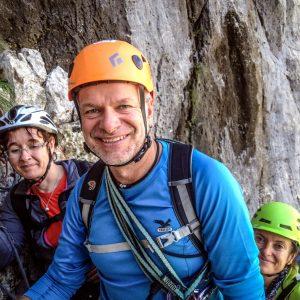 Facce sorridenti in sosta a Paklenica