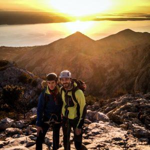 Sulla cima dell'Anica Kuk a Paklenica in Croazia