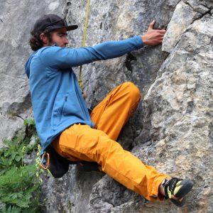 Posizioni evolute nel corso arrampicata perfezionamento