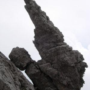 La Penna alla Forca dell'Alpino nel gruppo del Clap nelle Dolomiti Pesarine