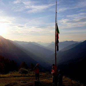 La bellissima vista dal Rifugio De Gasperi verso la Val Pesarina