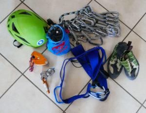 I materiali per l'arrampicata sportiva