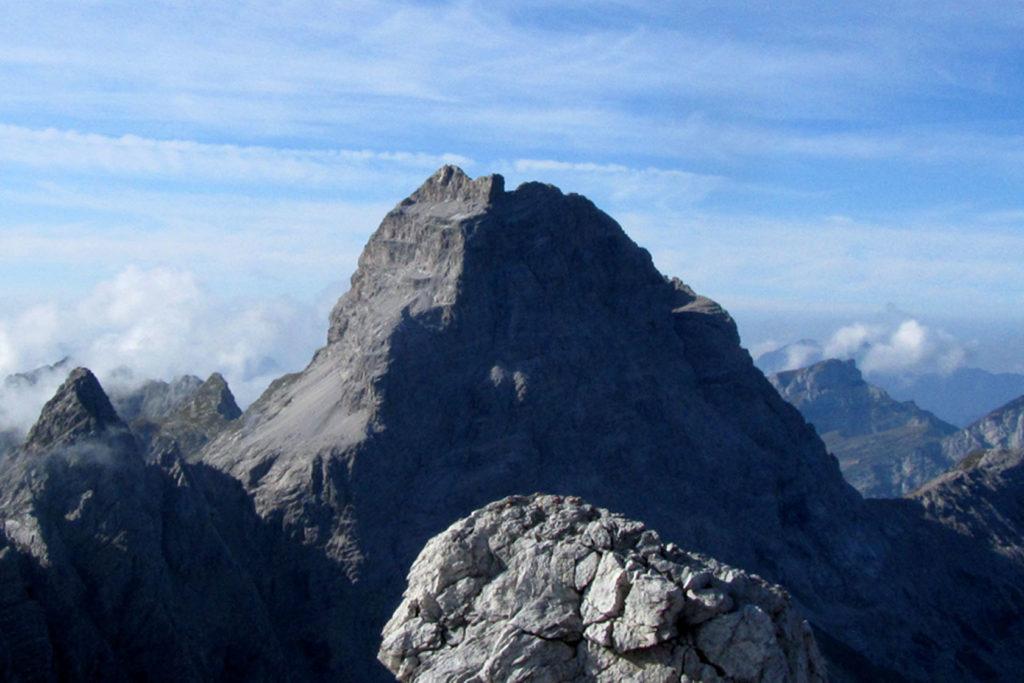 Vista del Duranno con le pareti nord e est