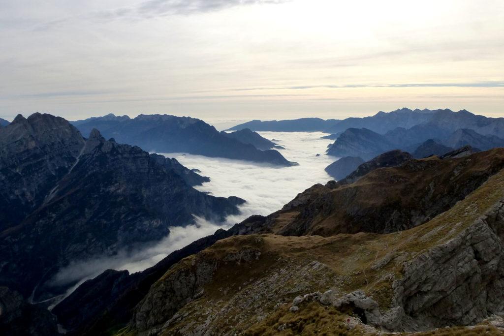 Panorama fantastico nei pressi della Forcella Duranno