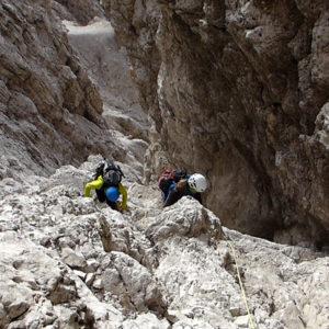 Lungo il Cadin Alto sul Duranno nelle Dolomiti Friulane