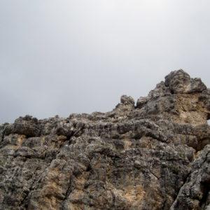La Sfinge del Montasio sovrasta il catino finale della Via di Dogna
