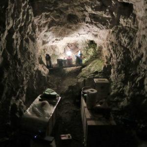 La cucina nella grotta del Cregnedul