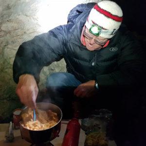 Bivacco sulla ferrata Ceria Merlone, nelle Alpi Giulie