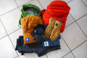 Alcuni capi da utilizzare durante una gita di scialpinismo