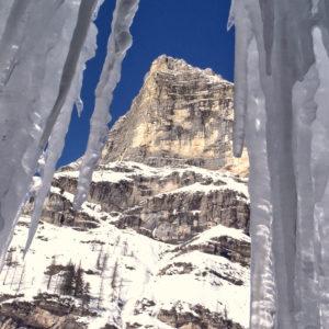 Scorcio fra le colate di ghiaccio in Val Travenanzes