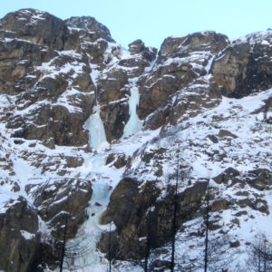 Cascate di ghiaccio nelle Alpi Giulie