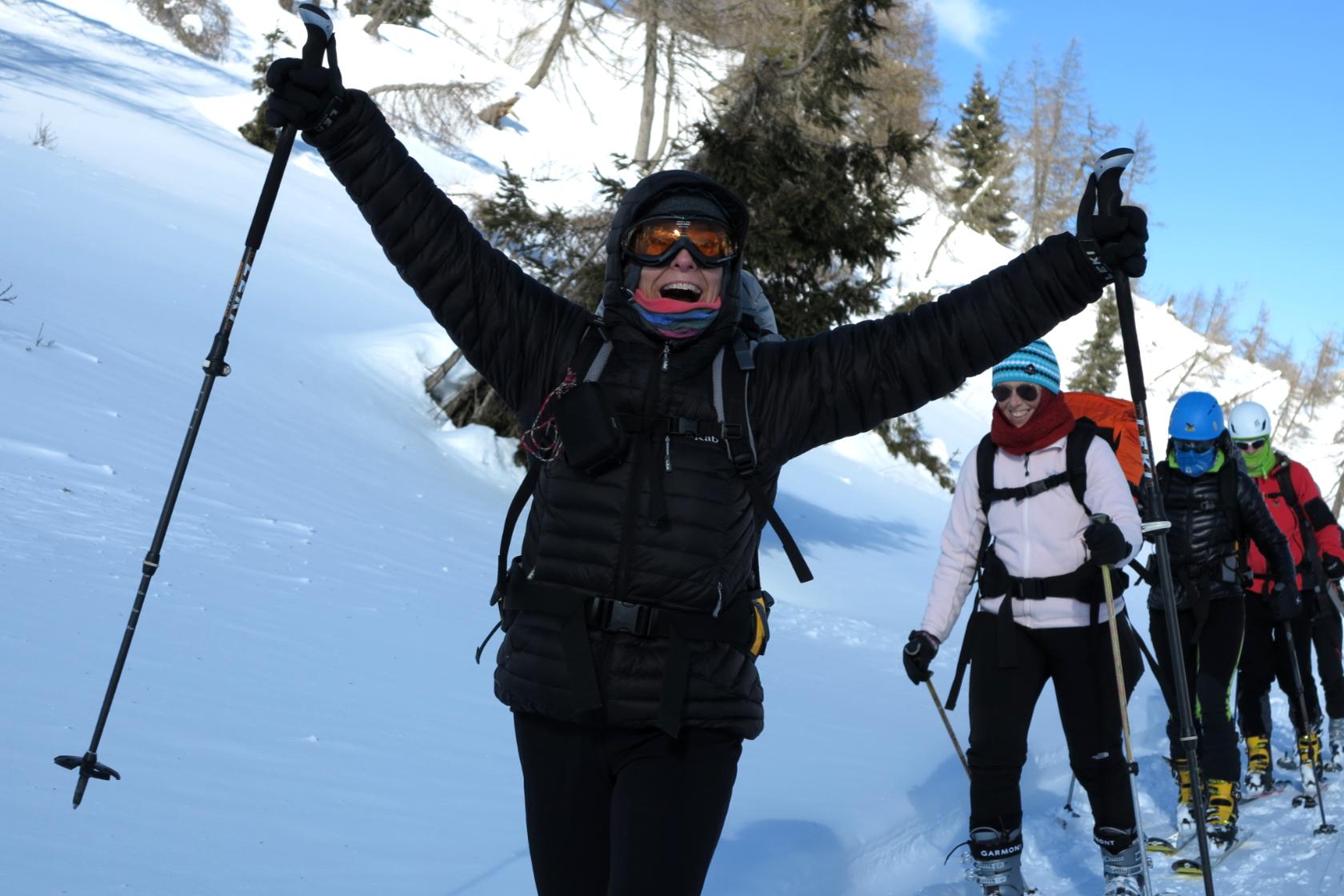 Come non essere entusiasti durante le gite di scialpinismo?