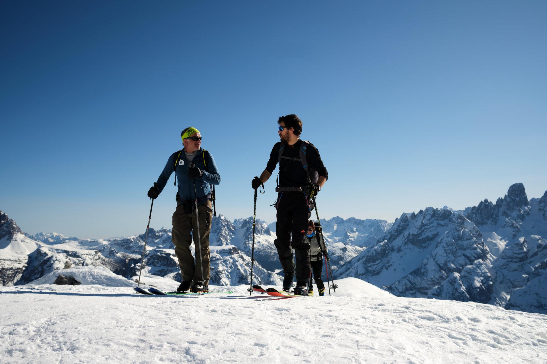 Sci alpinismo in Dolomiti