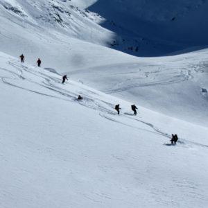 Scendendo da Forcela dl Lech in Dolomiti