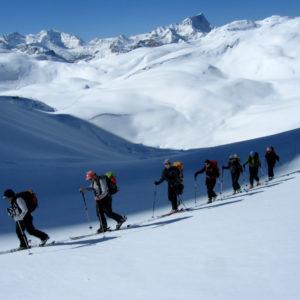 Lungo l'altopiano del Monte de Fosses in Dolomiti