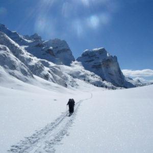 Nei pressi del Ju dal'Ega in Dolomiti