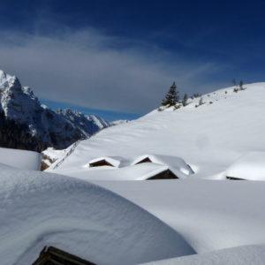 Il piccolo villaggio Fodara Vedla in Dolomiti