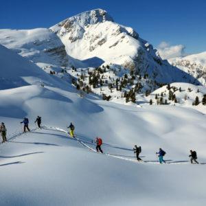 Risalendo verso Rossalmhutte in Dolomiti