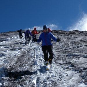Scendendo dalla cima dell'Etna