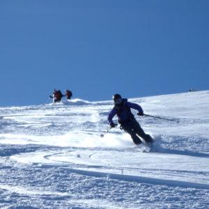 Bellissima neve sui pendii dell'Etna