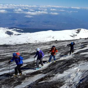 Il tratto finale nei pressi della cima dell'Etna