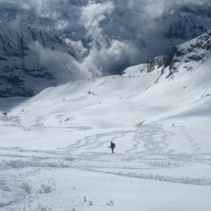 La fantastica sciata del Gran Paradiso