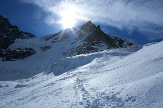 Salendo dal Rif Chabod verso il Gran Paradiso