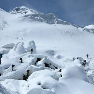 Passaggi obbligati sul ghiacciaio des Bosson
