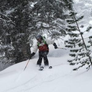 Curve nella neve fresca in Wipptal