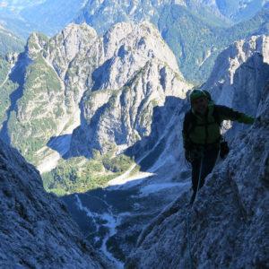 Alpi Giulie - Gola NordEst - Jof Fuart - Salendo