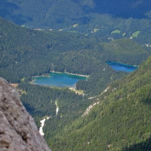 I laghi di Fusine visti dalle Creste del Mangart