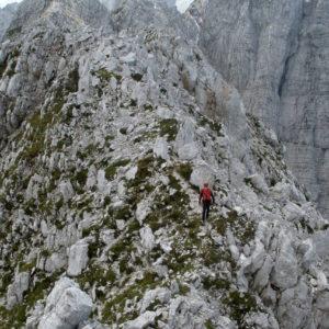 Esili sentieri sulla cresta delle Ponze