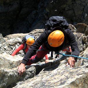 Tratti in arrampicata sulla Cresta Est del Monviso